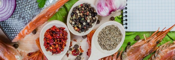 Spices with seafood