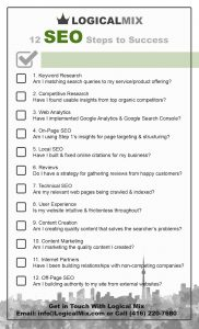 12 SEO steps to success printable checklist
